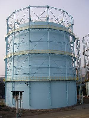 有水式ガスホルダー(MガスorLDガス)