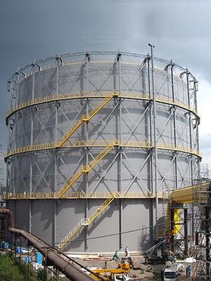 有水式ガスホルダー(BFG)